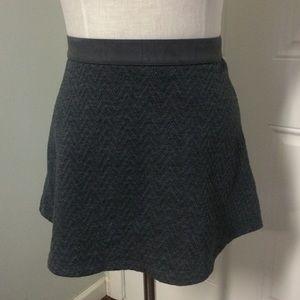 Charcoal gray skirt high waisted skater circle